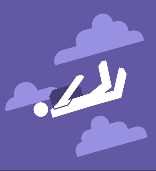 Icon of a skydiver